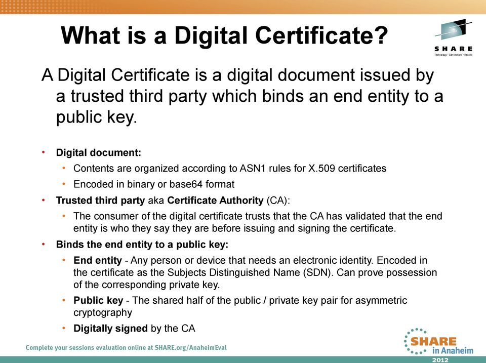 Digital Certificate Goody Bags On Zos Pdf