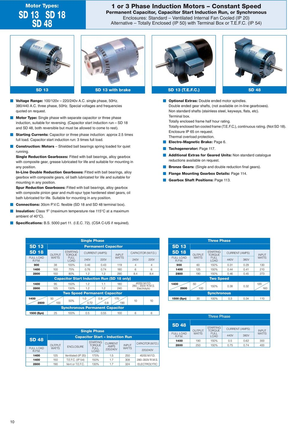 Ac Motors Catalogue Pdf Permanent Split Capacitor Run Induction Motor Special Voltages And Frequencies Quoted On Request Type Single Phase With Separate
