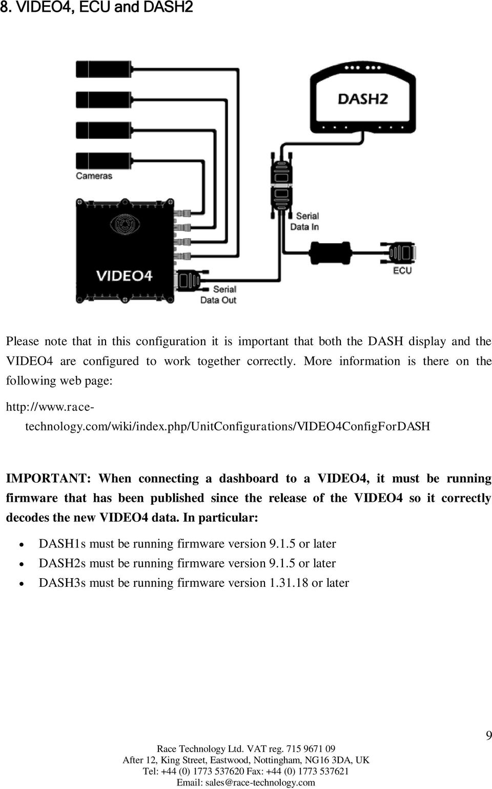 Vems Ecu Wiring Diagram Introduction 3 Parts Supplied Before You Begin Connecting The Php Unitconfigurations Video4configfordash Important When A Dashboard To Video4 It