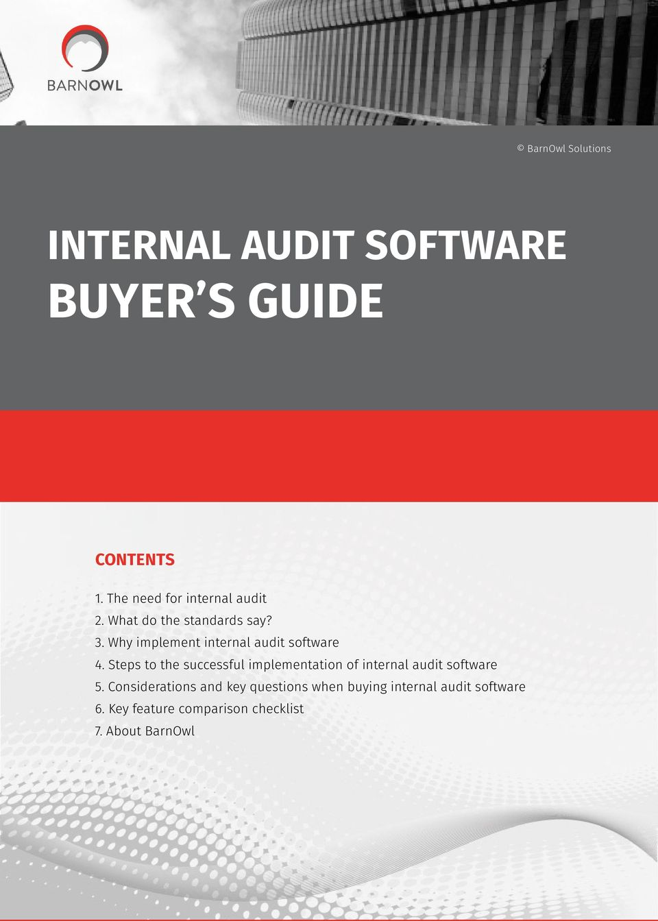 INTERNAL AUDIT SOFTWARE BUYER S GUIDE - PDF