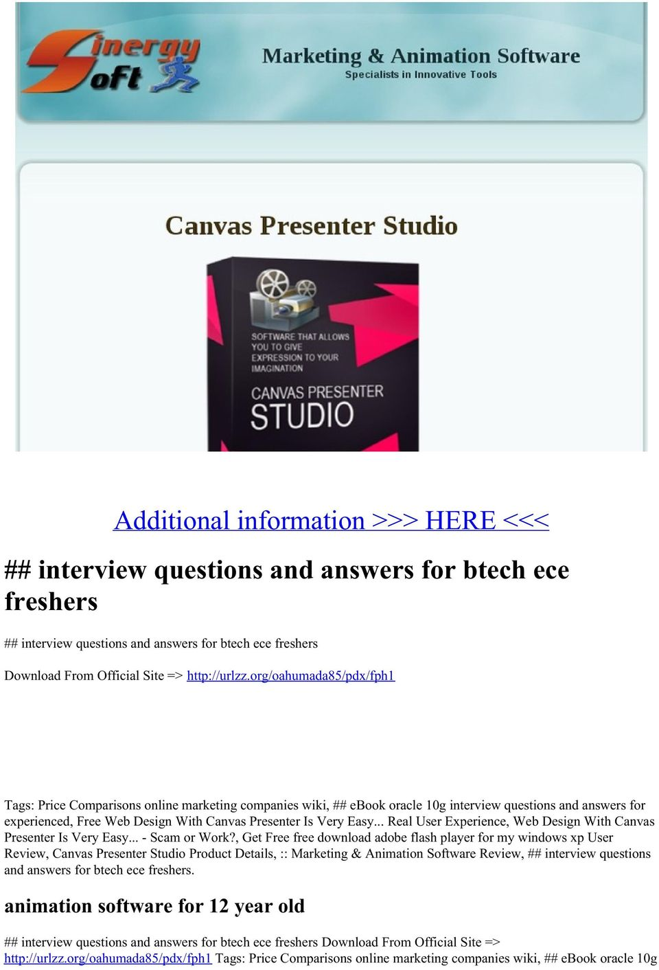 Easy... Real User Experience, Web Design With Canvas Presenter Is Very Easy... - Scam or Work?