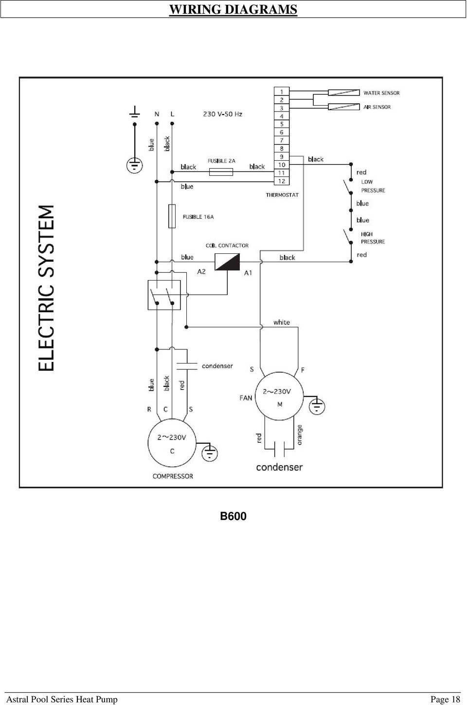 Astral Pool Heat Pump Pdf Wiring Diagram For 230 Volt Circuit 19 Warranty Covers Your And Spa Heater With A Limited Against Defective Materials Workmanship From The Date Of Purchase Plus