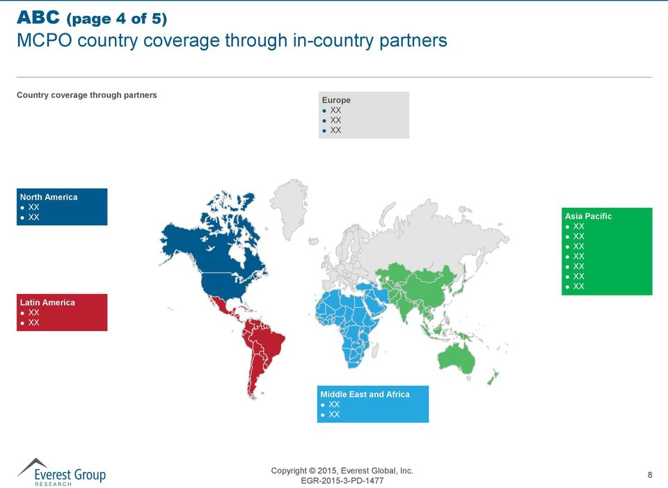 coverage through partners Europe North