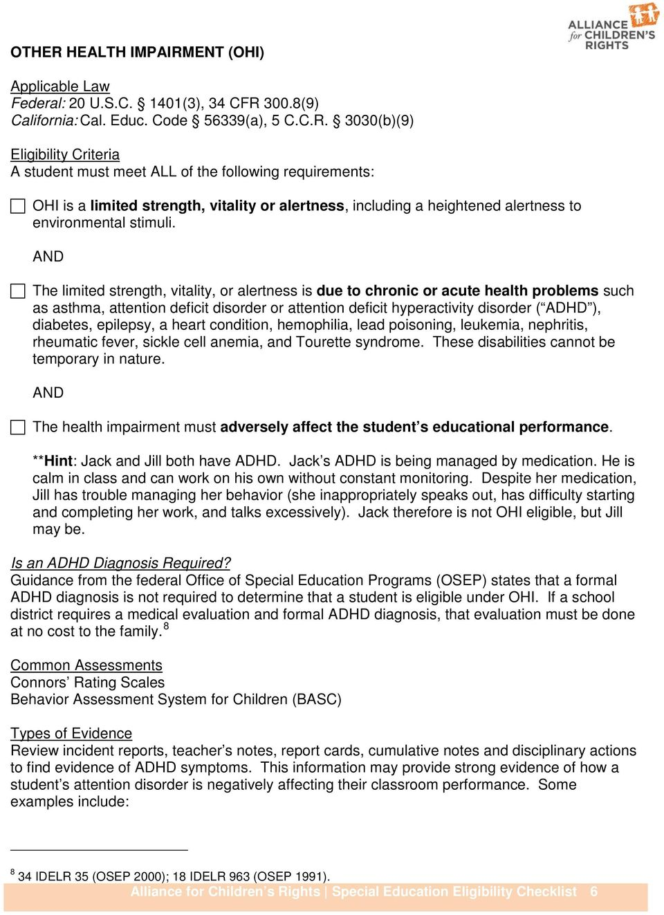 Special Education Eligibility And Dsm 5 >> Special Education Eligibility Checklist Pdf