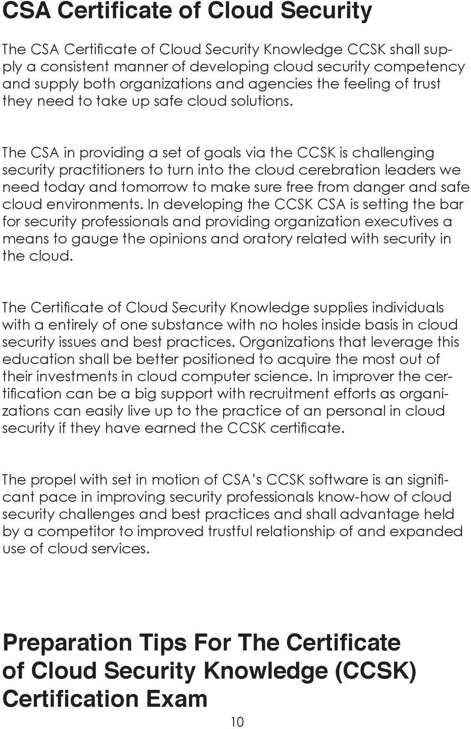 Certificate of Cloud  Security Knowledge (CCSK) - PDF