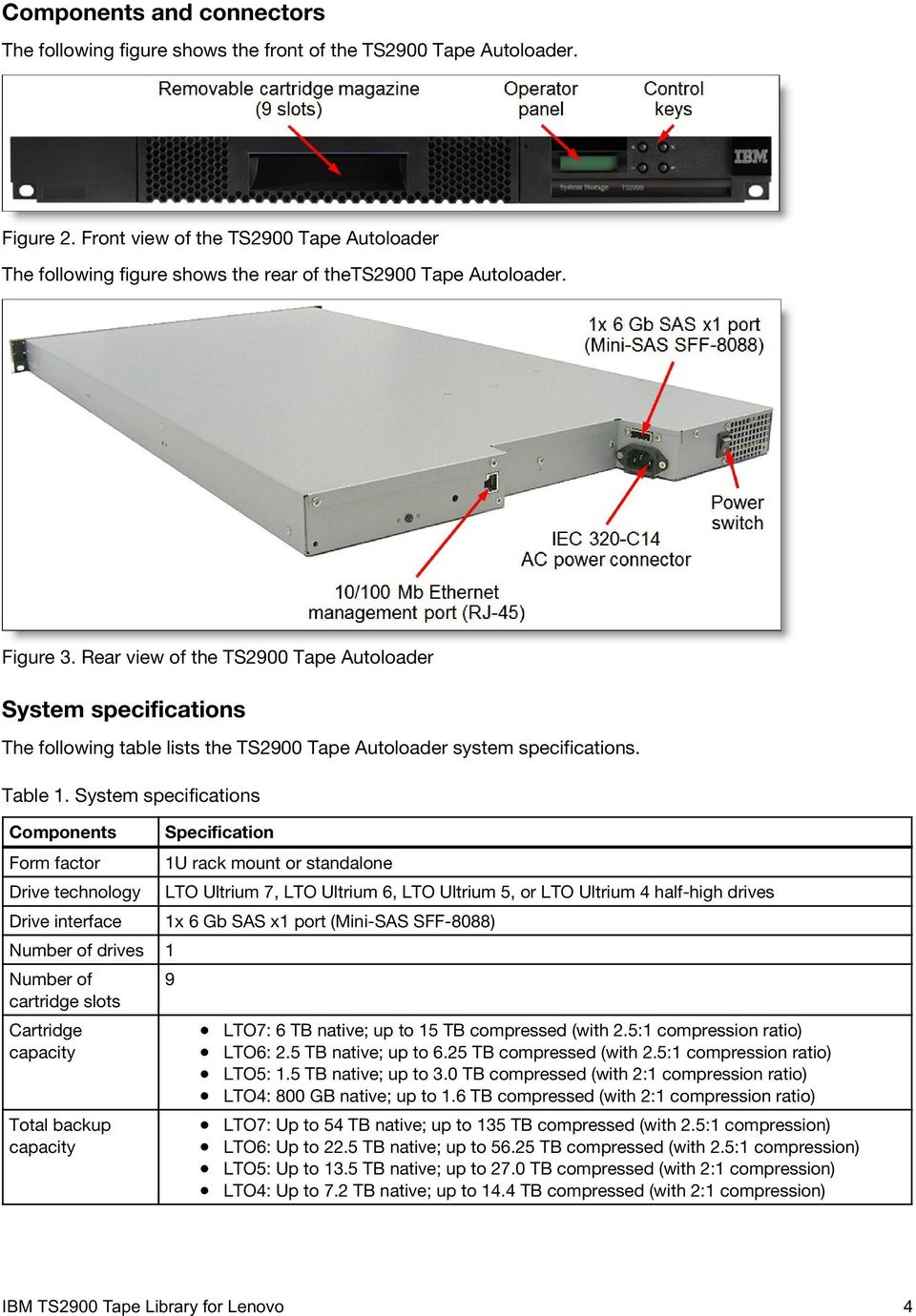 IBM TS2900 Tape Library for Lenovo Product Guide - PDF