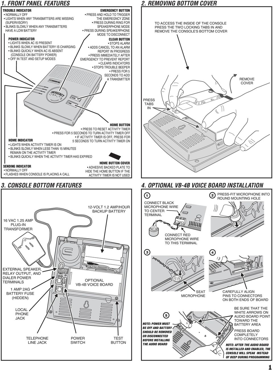 12 Volt Single Battery Wiring Diagram Click To Animate Pers 2400b Personal Emergency Reporting System Installation And For Speakerphone Mode Press During Disconnect Clear Button Stops Alarm Adds Cancel