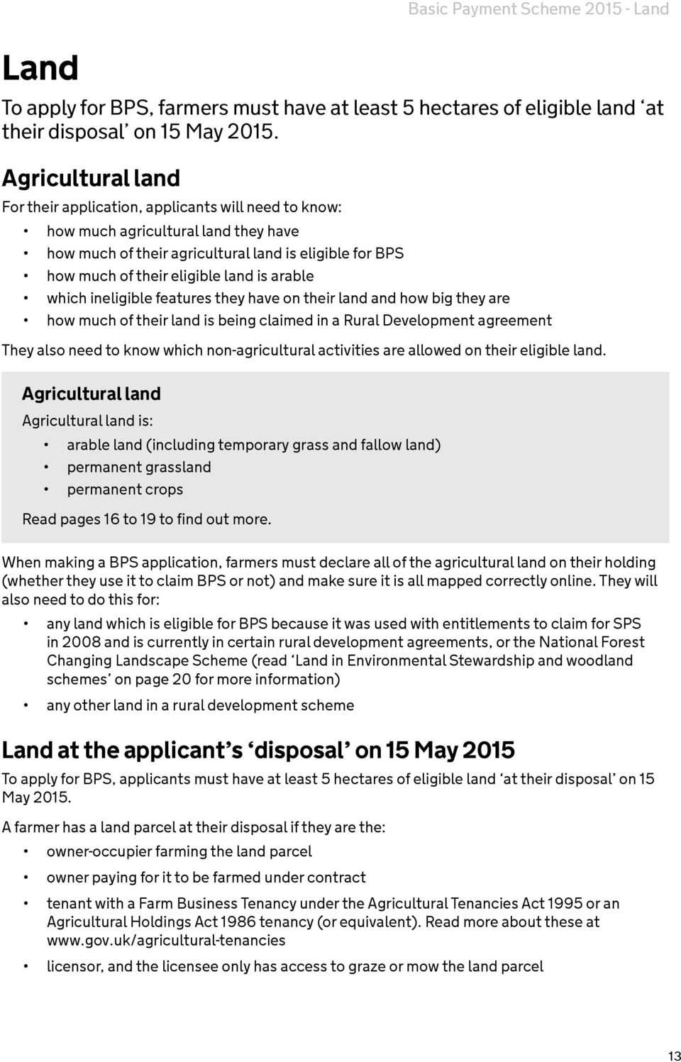 The Basic Payment Scheme In England Pdf