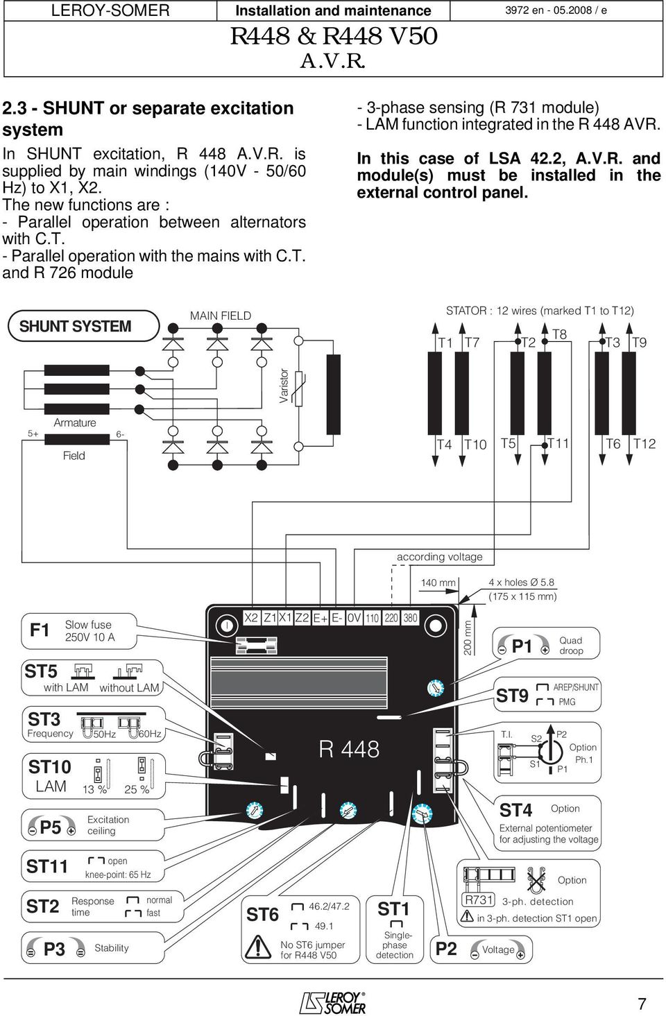 R448 V50 Avr Pdf 3300 International Fuse Box Diagram 2 And Modules Must Be Installed In The External Control Panel