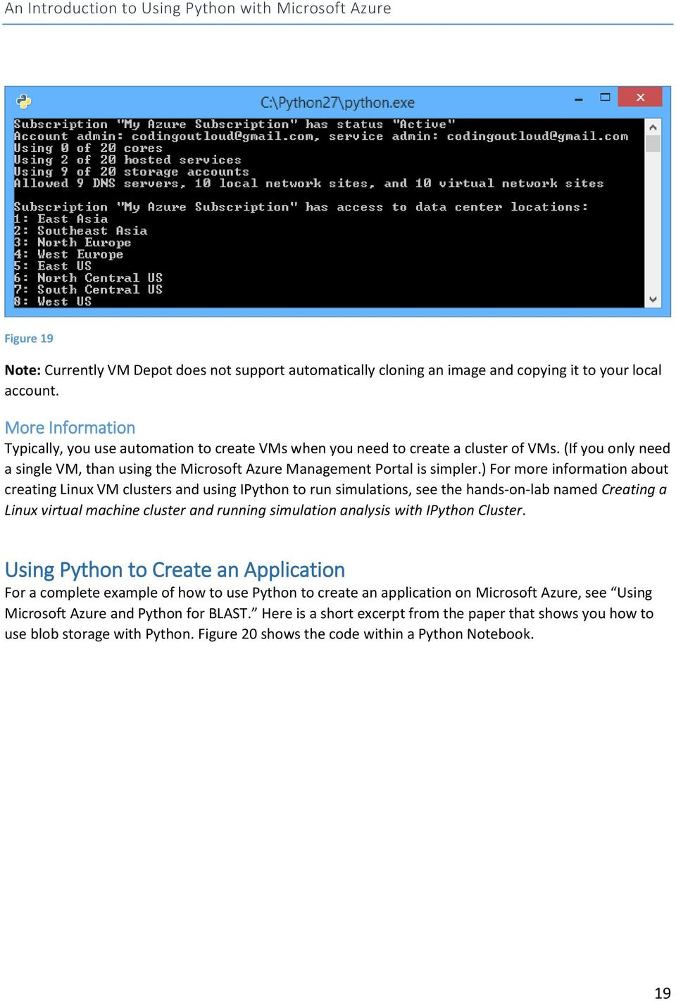 An Introduction to Using Python with Microsoft Azure - PDF