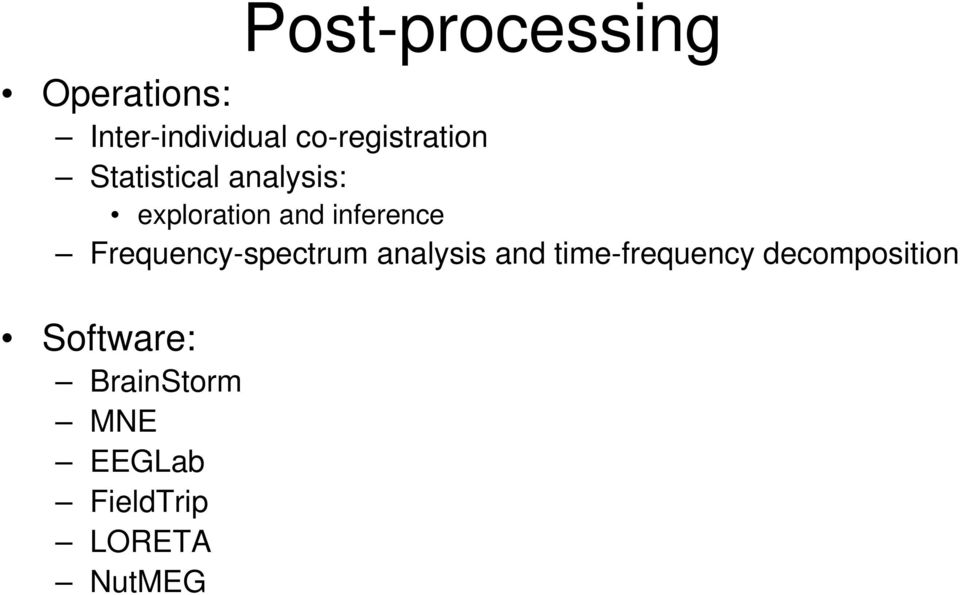 Free software solutions for MEG/EEG source imaging - PDF