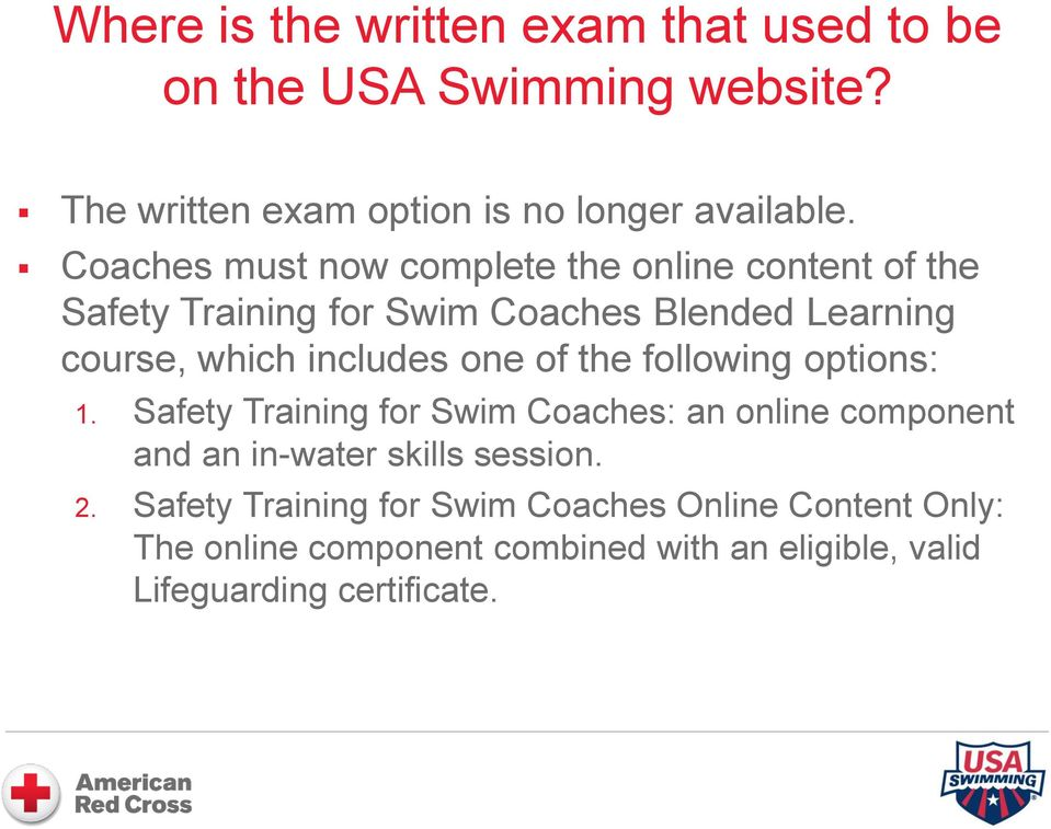 safety training for swim coaches. answering coaches questions - pdf