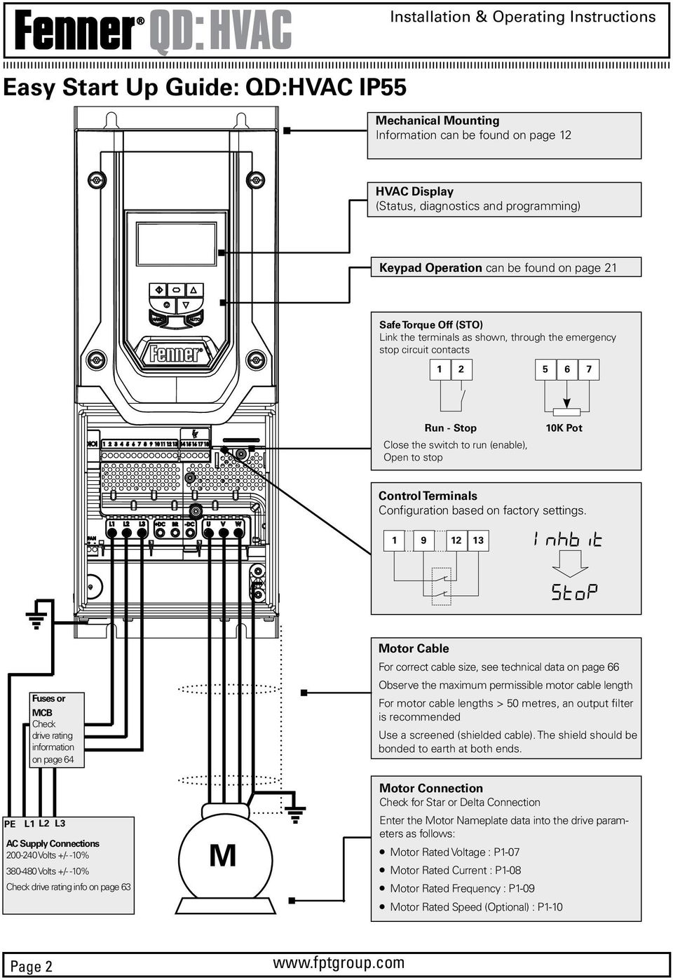 installation and operating instructions  ac variable speed