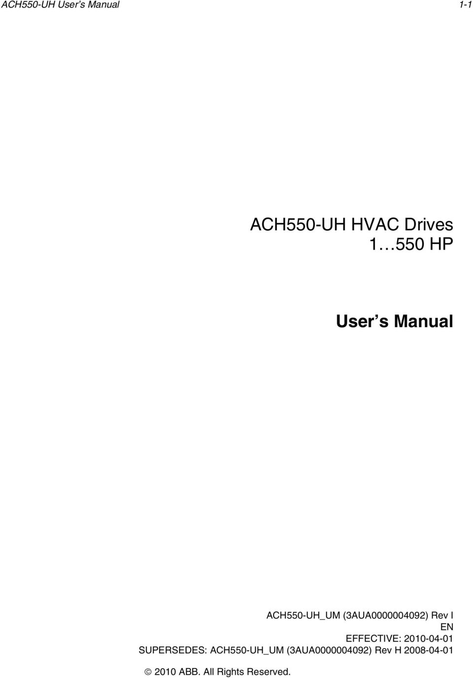 ach550 uh hvac drives user s manual ach550 uh user s manual pdf rh docplayer net ach550-uh hvac drives manual ach550-uh hvac drives user manual