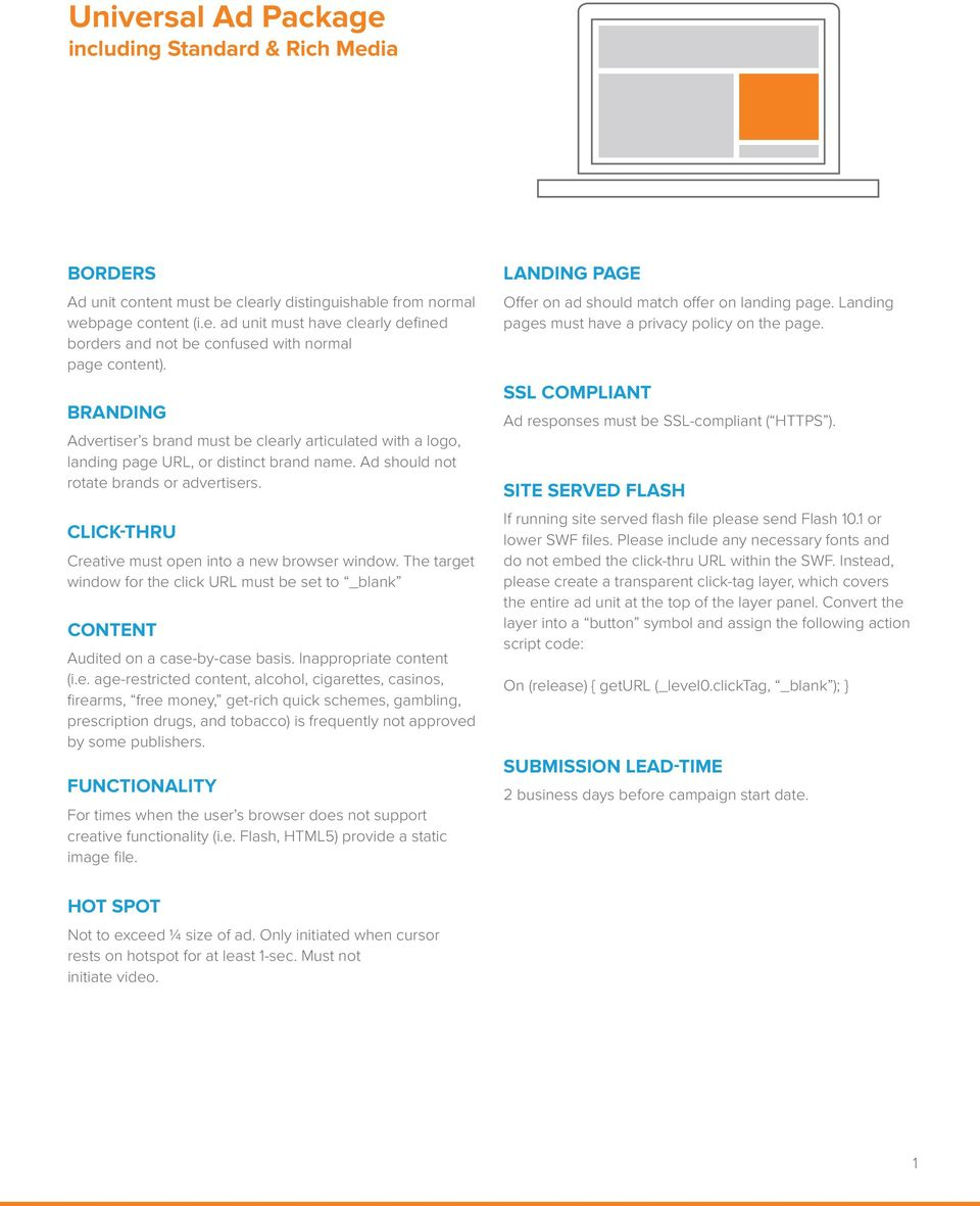 Display Ad Unit Guidelines - PDF