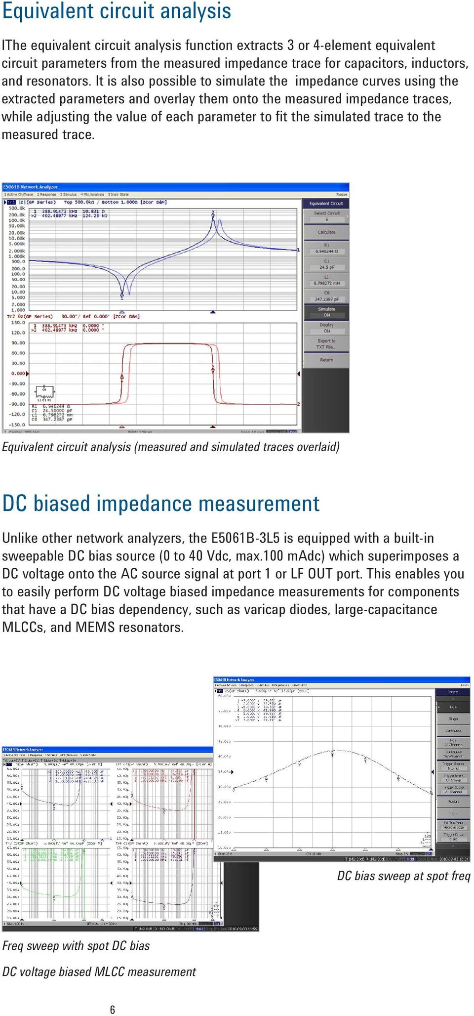 E5061b 3l5 Lf Rf Network Analyzer With Option 005 Impedance Analysis Antenna Lcr Meter For Sale Electroniccircuitsdiagramscom Simulated Trace To The Measured