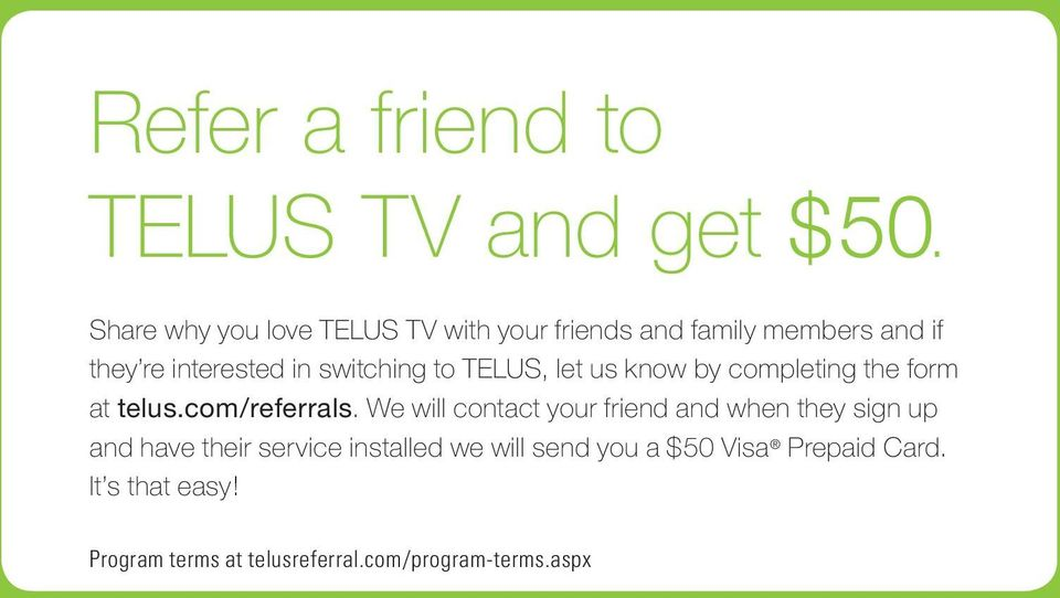 TELUS Satellite TV  Quick reference guide - PDF
