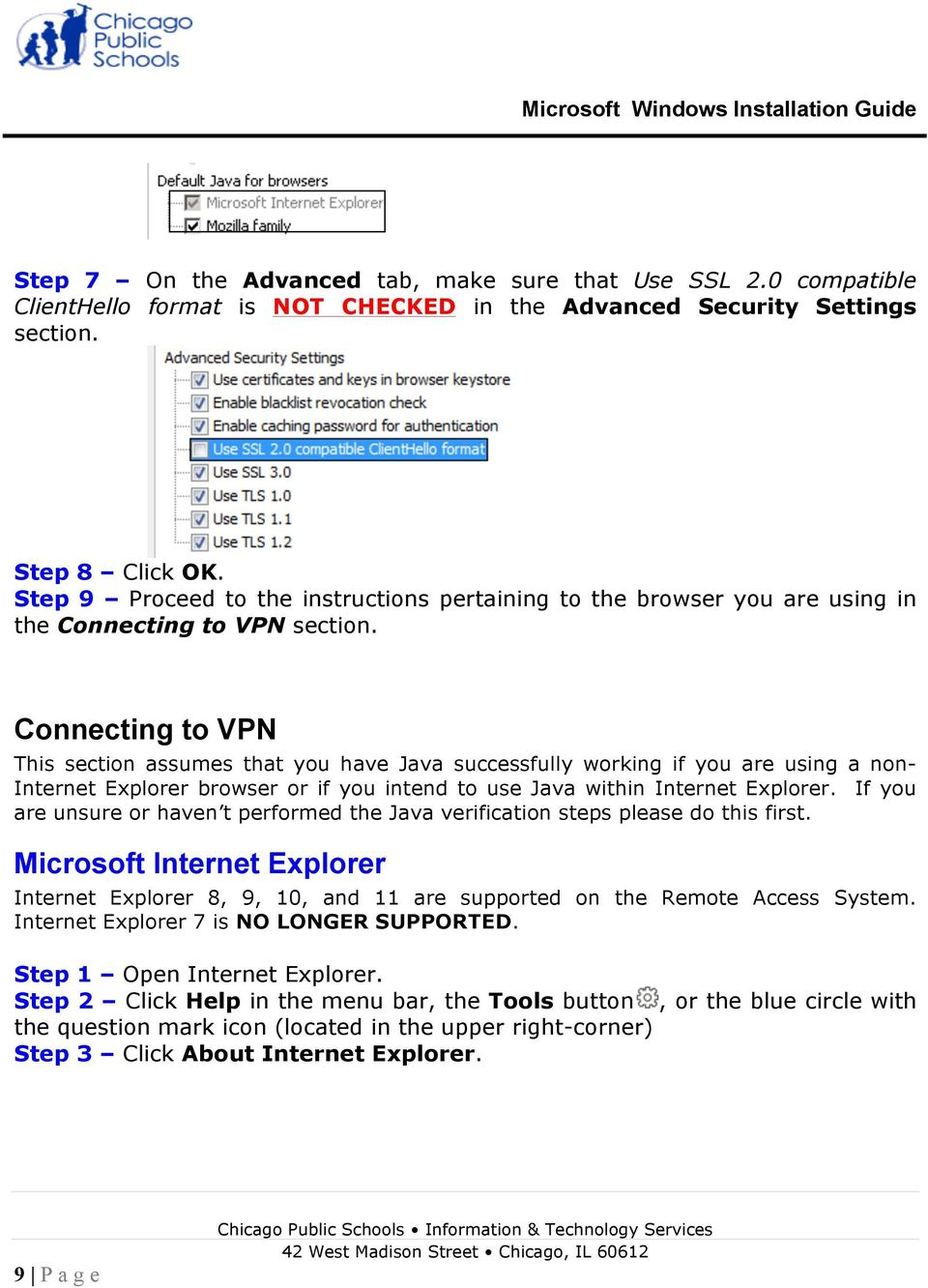 Remote Access Services Microsoft Windows - Installation Guide - PDF