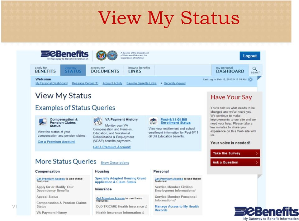 What is ebenefits? A portal for veterans, service members, and their