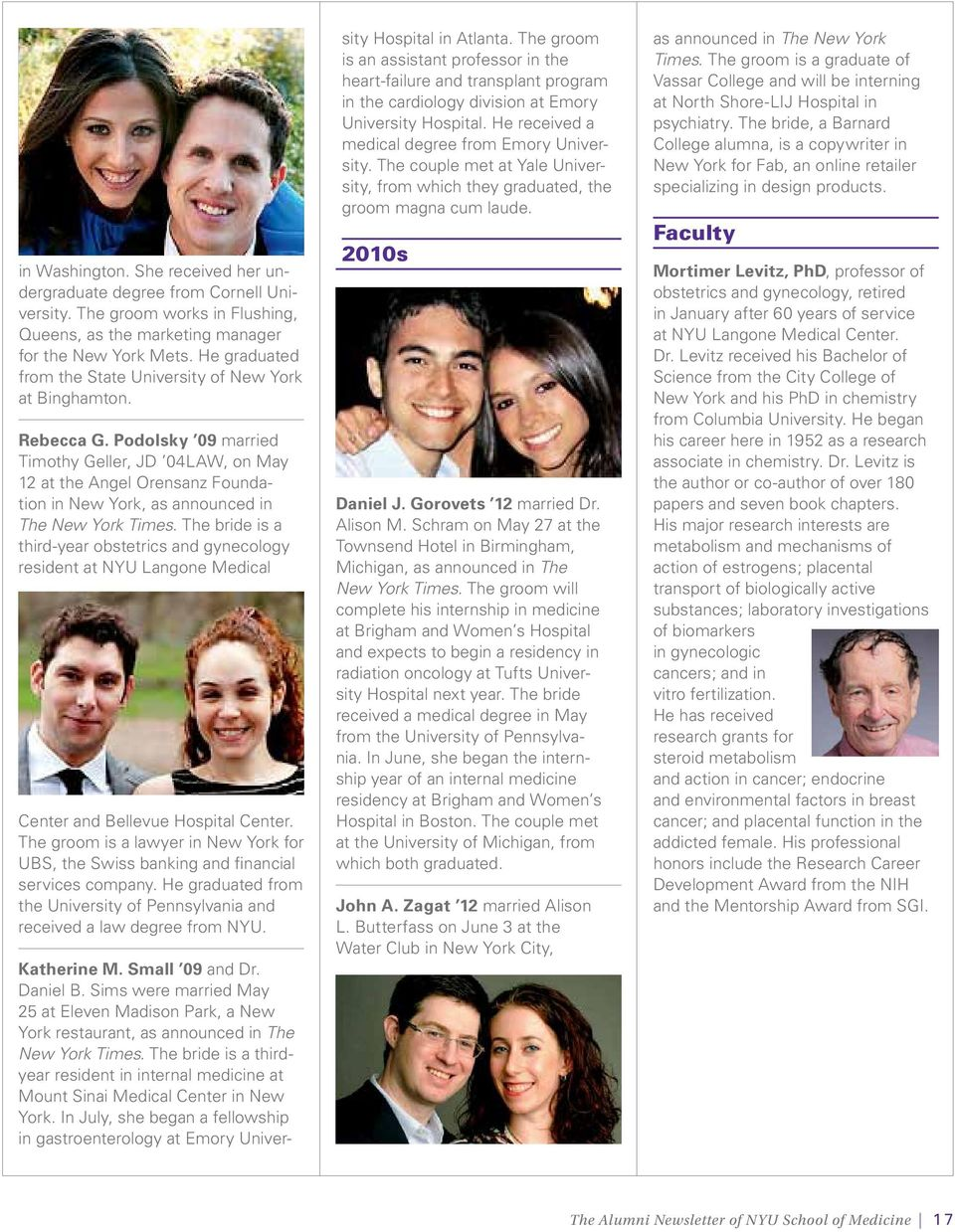 the grapevine The Alumni Newsletter of NYU School of