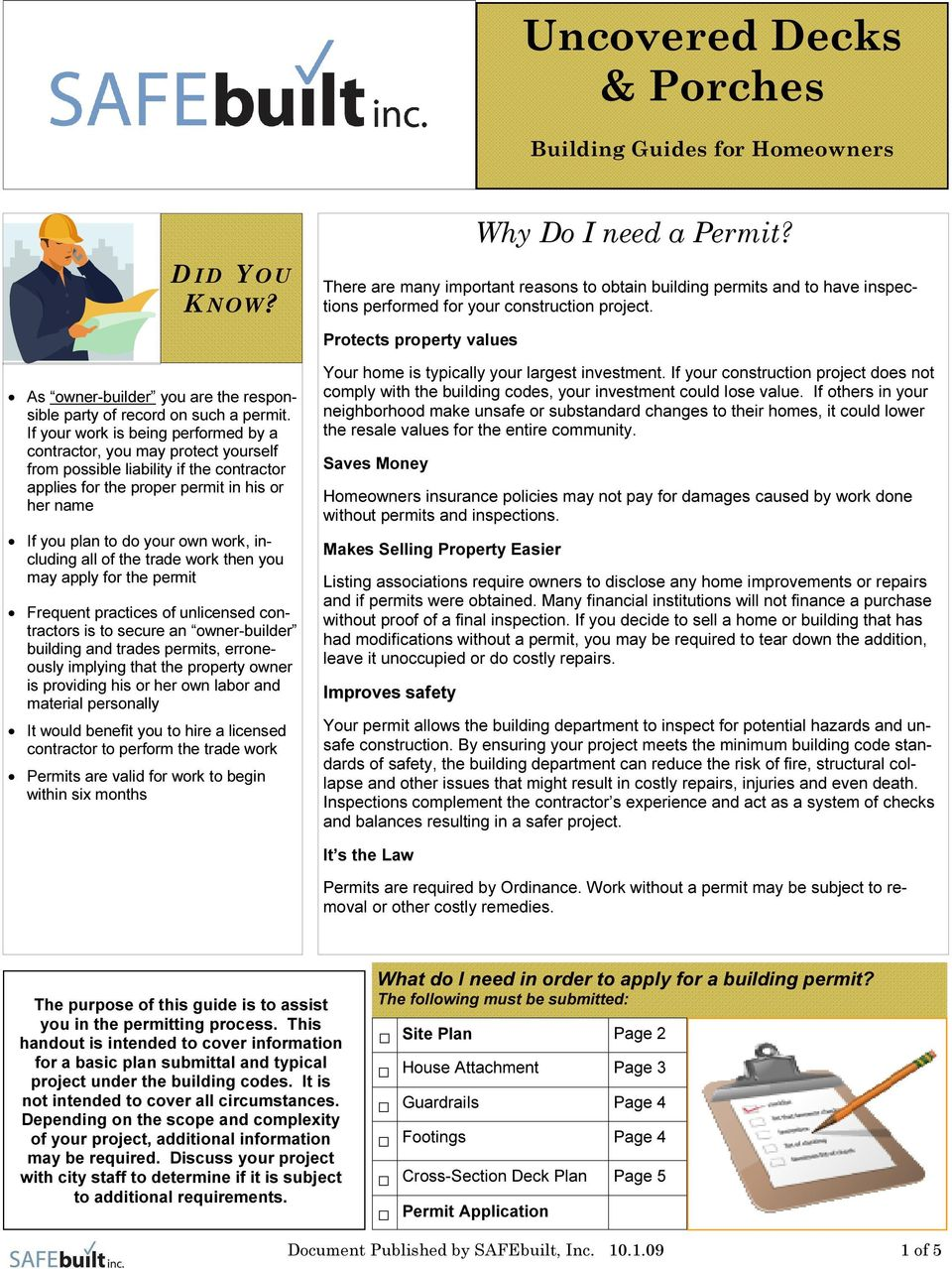Uncovered Decks Porches Pdf Whether You Are A Homeowner Or Builder Planning Including All Of The Trade Work Then May Apply For Permit Frequent Practices