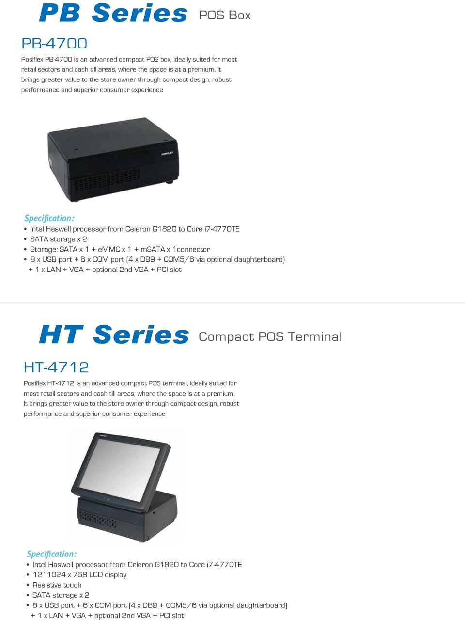 CATALOG  Mobile POS POS Terminal All-in-one POS Fanless POS