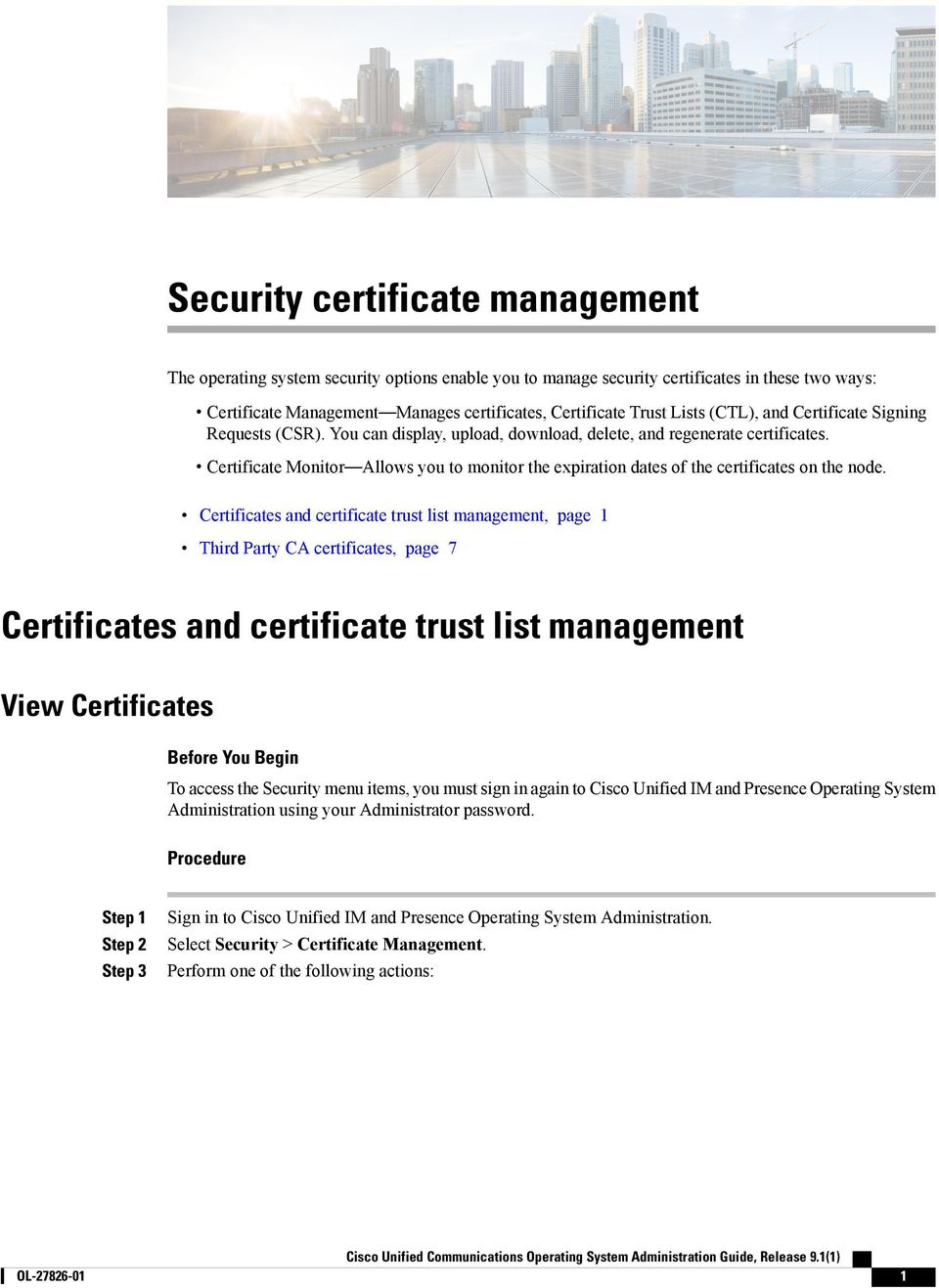 Security Certificate Management Pdf