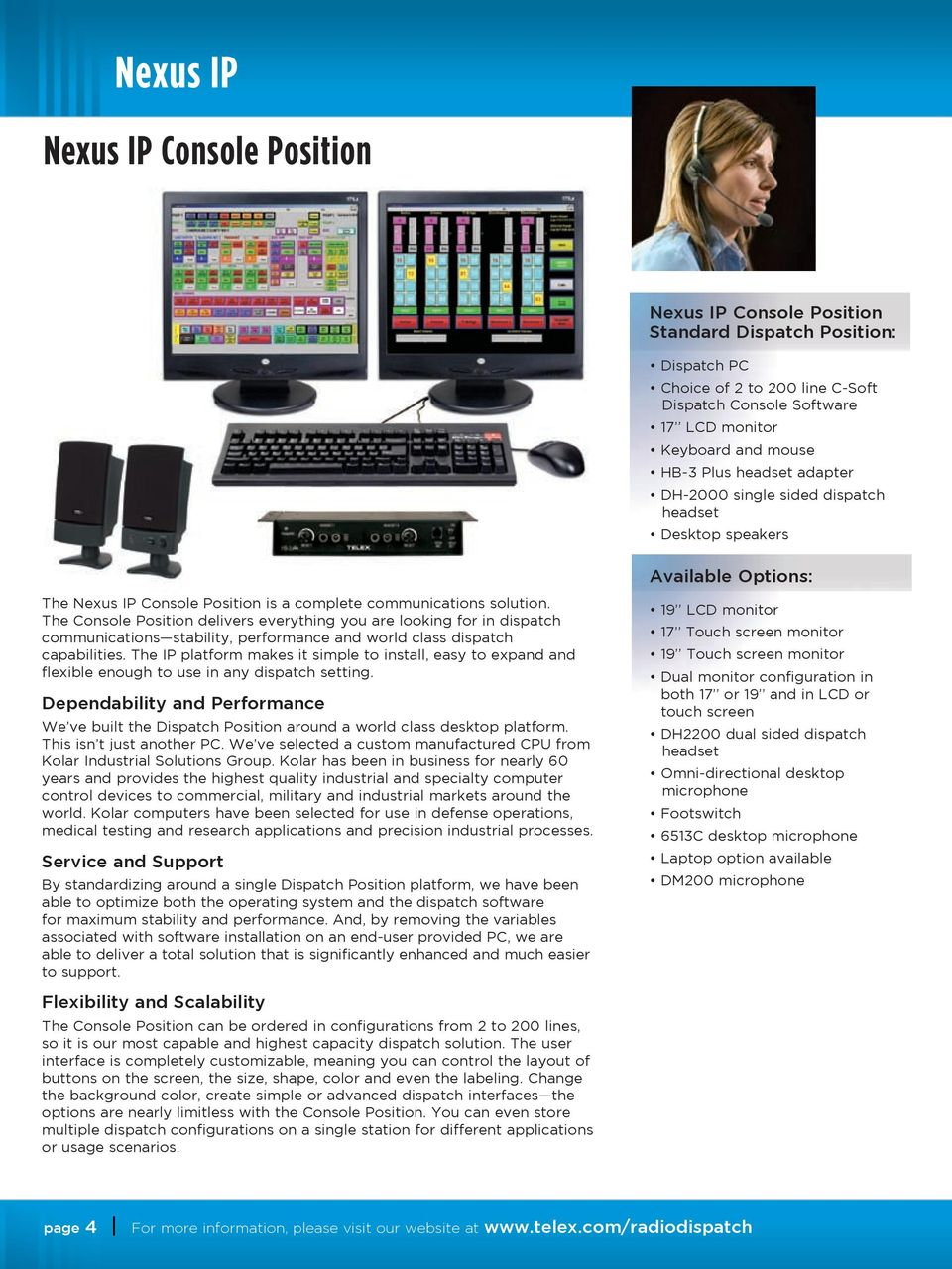 Telex Radio Dispatch Products  Communications and dispatch