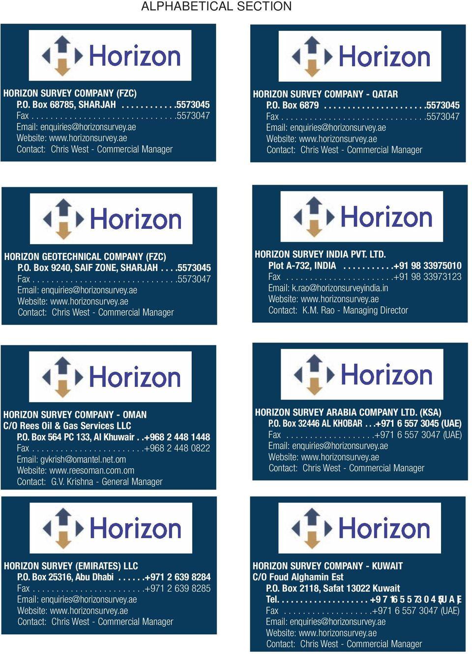 Horizon Survey and Geotechnical Companies - PDF