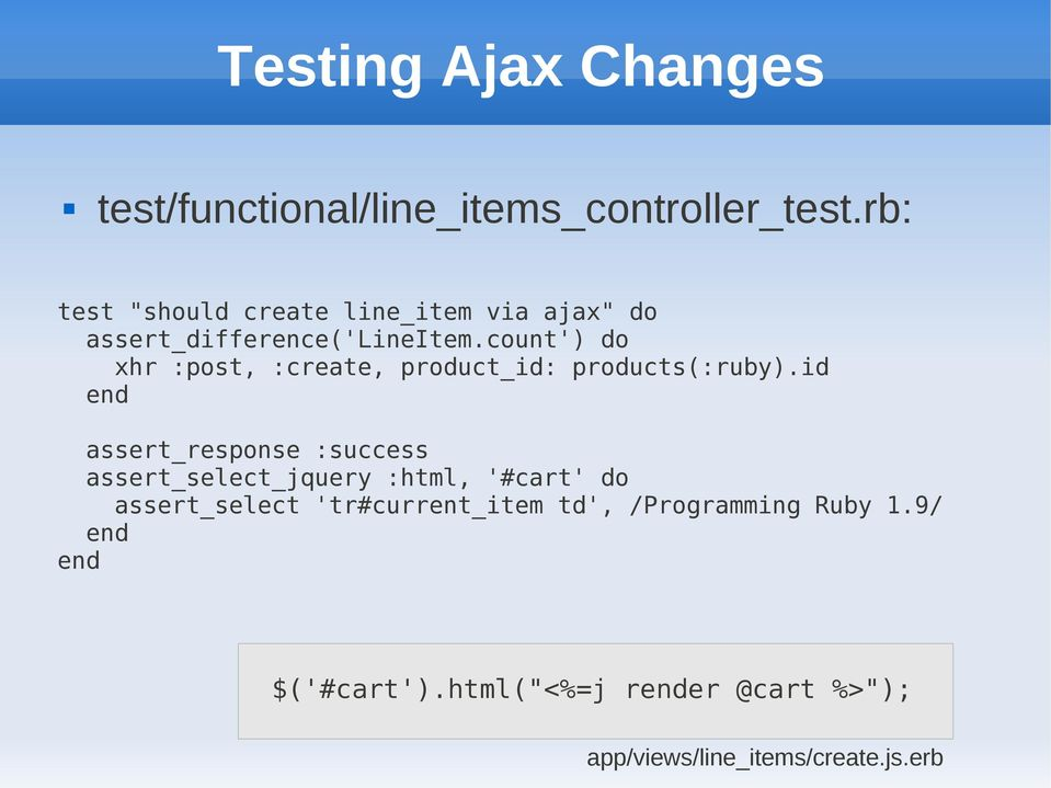 Agile Web Development with Rails, Chapter 11: Task F: Add a
