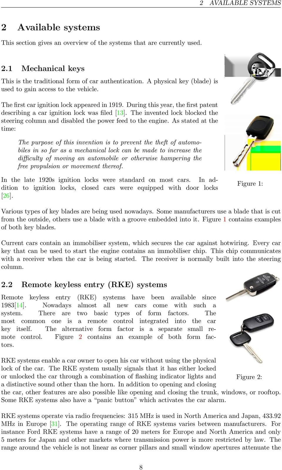Car Security Remote Keyless Entry And Go Pdf Hot Wiring A The Invented Lock Blocked Steering Column Disabled Power Feed To Engine