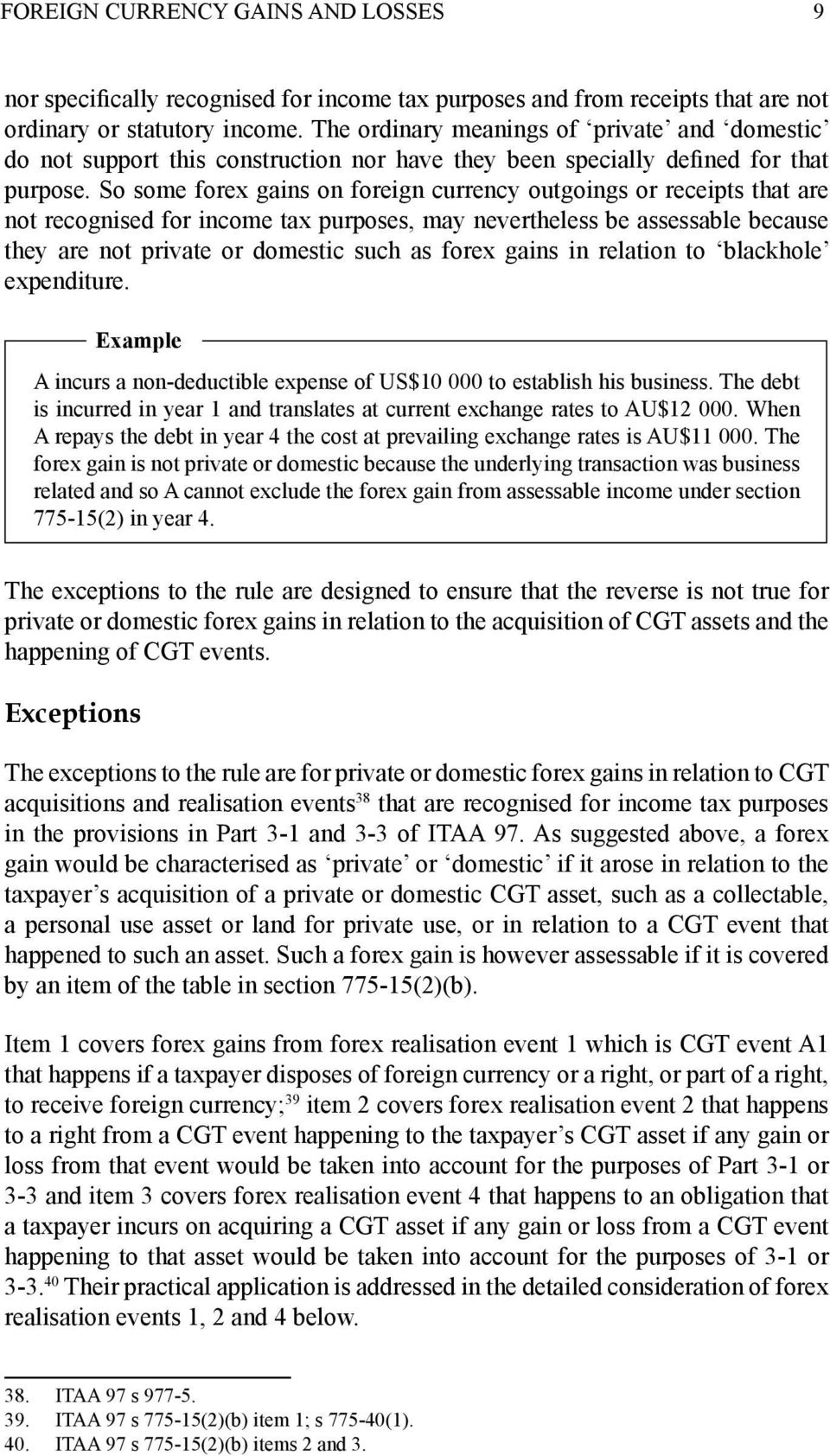 Tax deduction forex trade