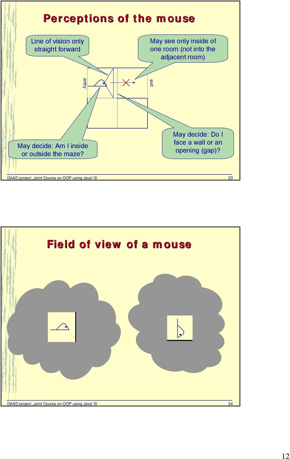 The non-trivial Java example Mouse in a Maze - PDF