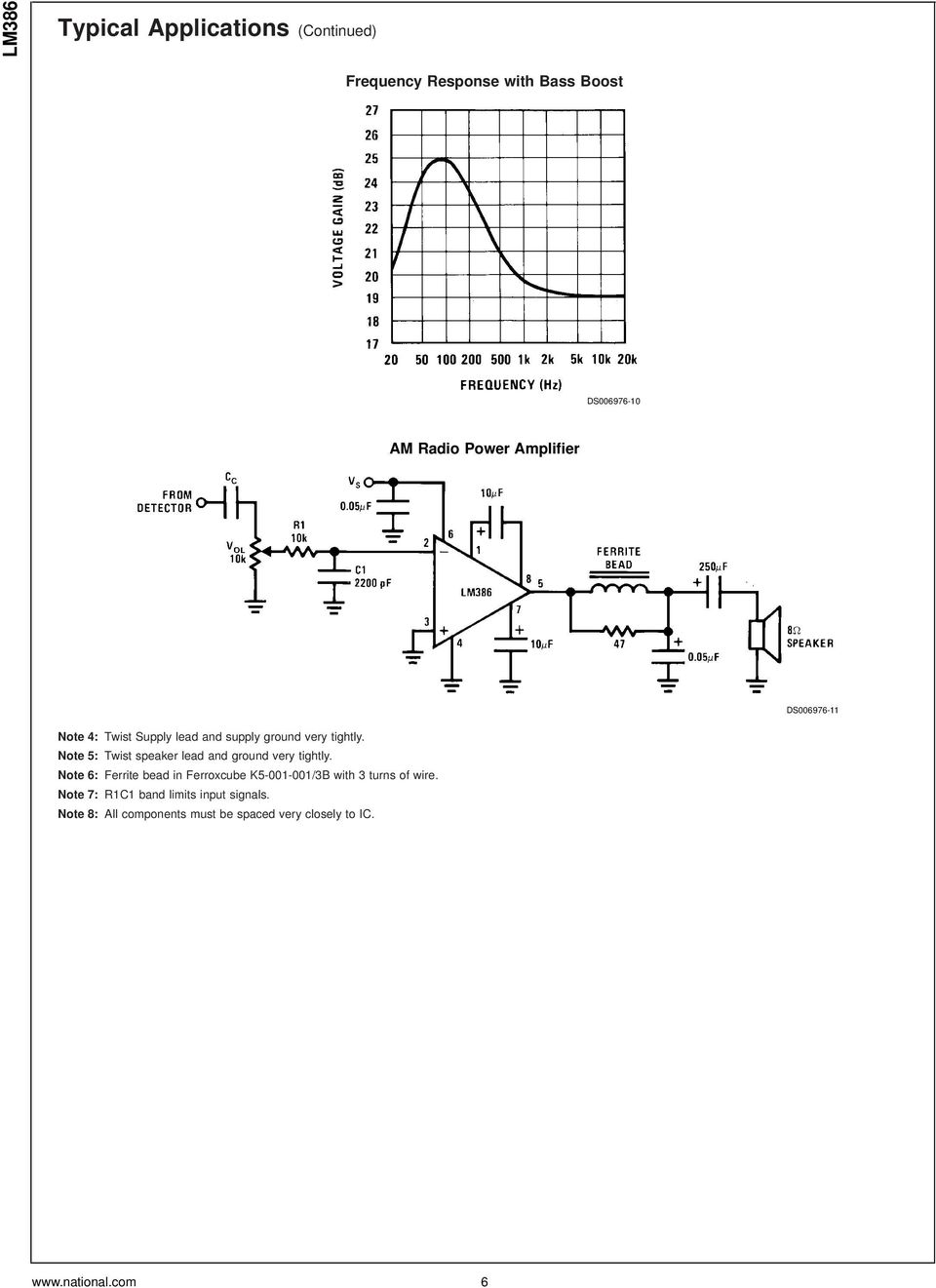 Lm386 Low Voltage Audio Power Amplifier Pdf Circuit Preamplifier Integrated Lm358 Dual Op Amp Note 5 Twist Speaker Lead And Ground Very Tightly