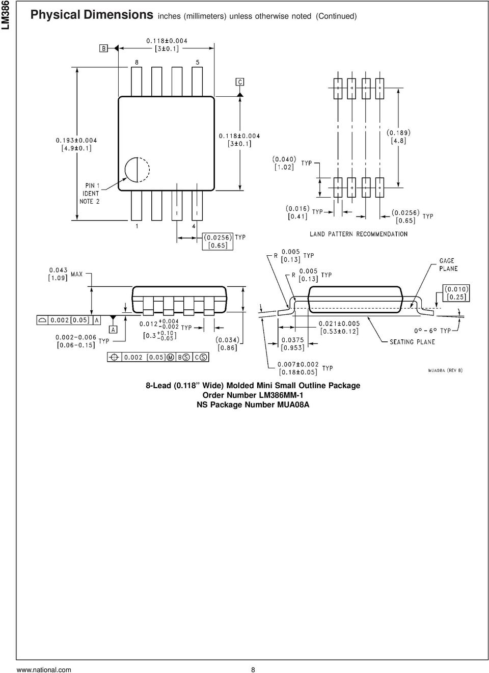 Lm386 Low Voltage Audio Power Amplifier Pdf And Cheap Systems 32w Hi Fi Circuit Diagram 118 Wide Molded Mini Small Outline Package