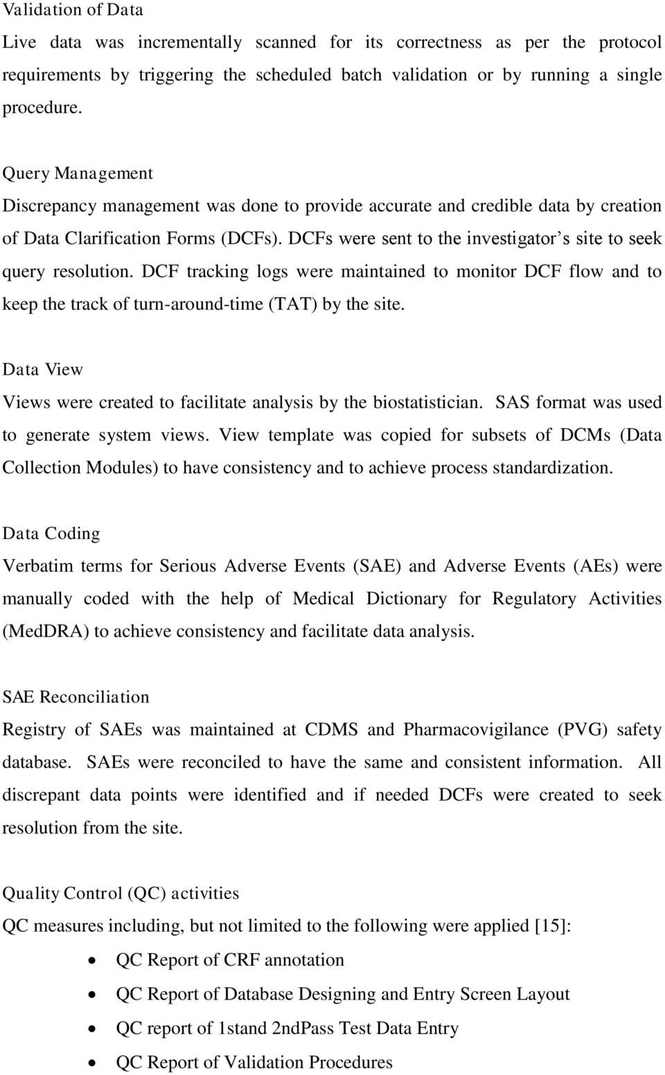 Clinical Data Management Cdm Process Standardization For Vaccine