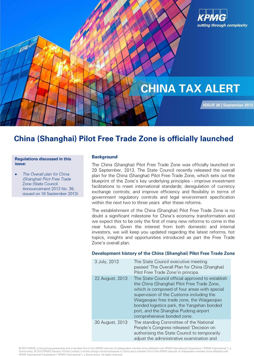 China (Shanghai) Pilot Free Trade Zone is officially