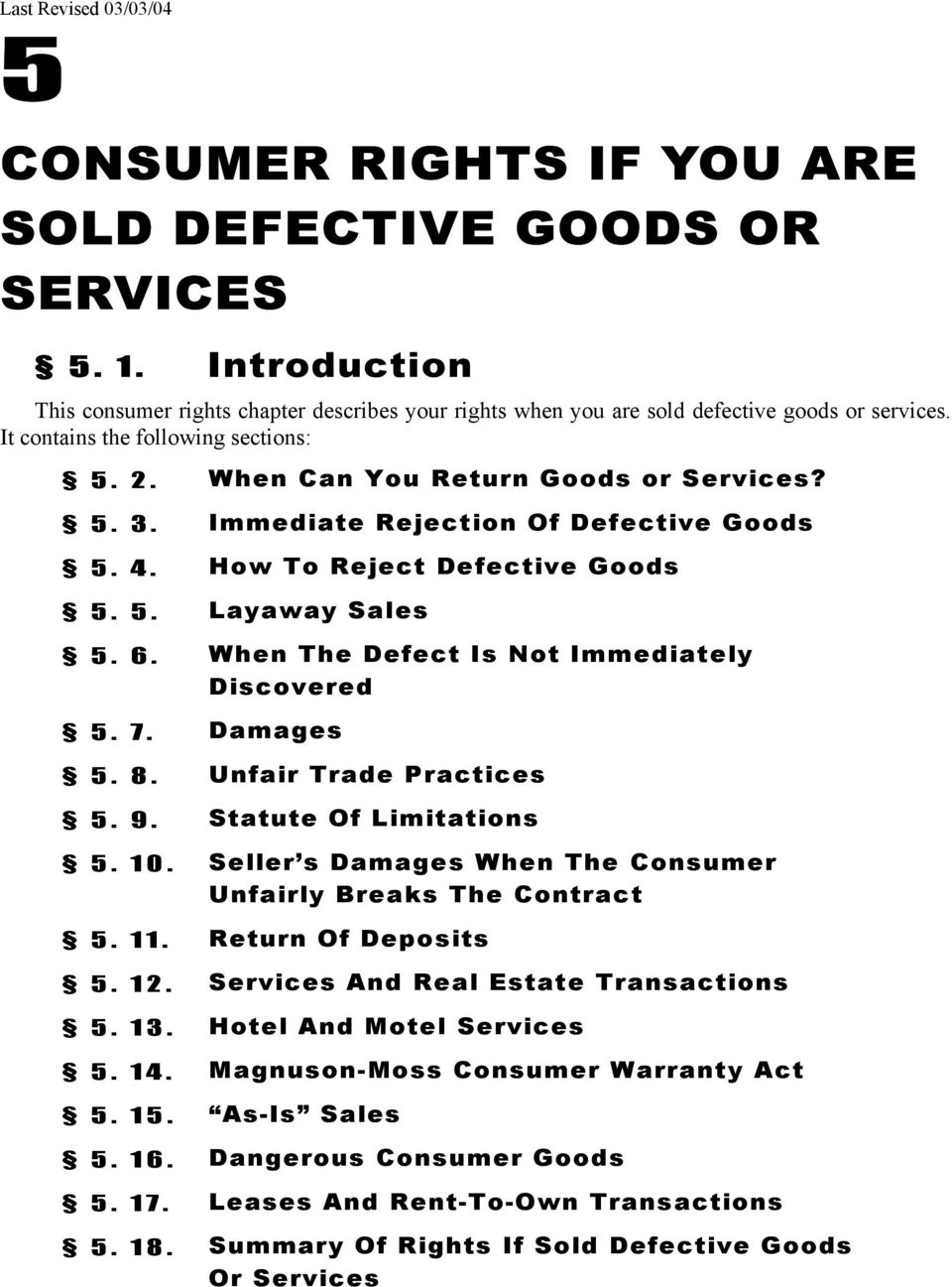 When The Defect Is Not Immediately Discovered 5 7 Damages 8 2 Maine Consumer Law Guide Can You Return Goods