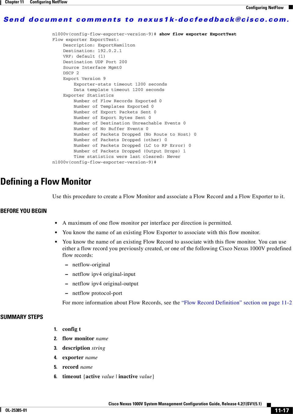 Configuring NetFlow  Information About NetFlow  Send
