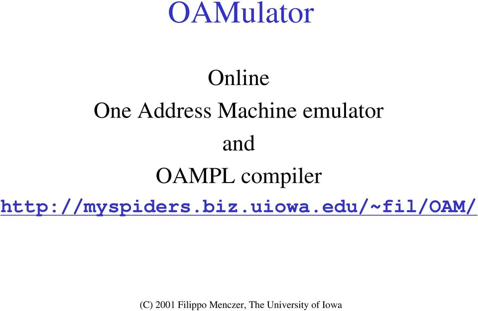 and OAMPL compiler