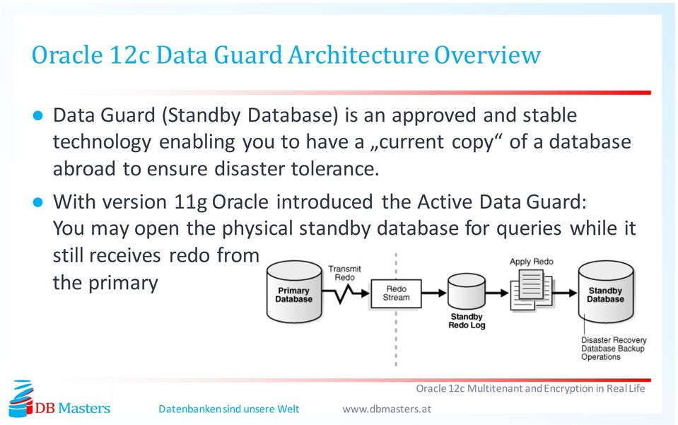 Oracle 12c Multitenant and Encryption in Real Life  Christian