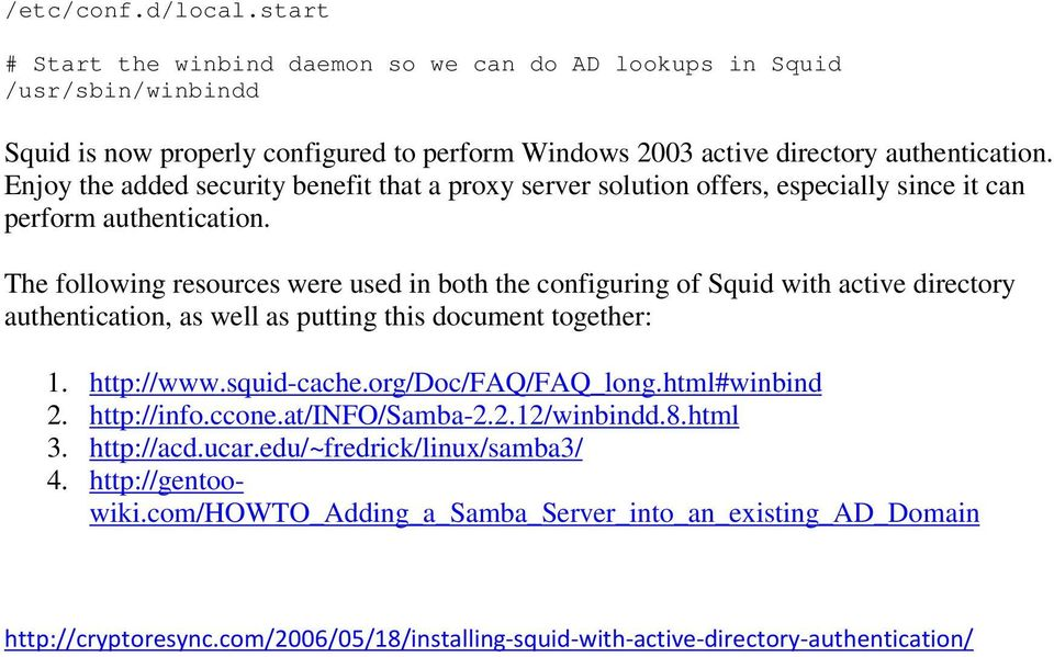 Installing Squid with Active Directory Authentication - PDF