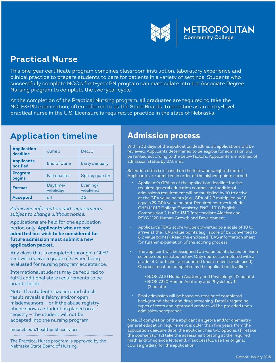 At the completion of the Practical Nursing program, all graduates are required to take the NCLEX-PN examination, often referred to as the State Boards, to practice as an entry-level practical nurse