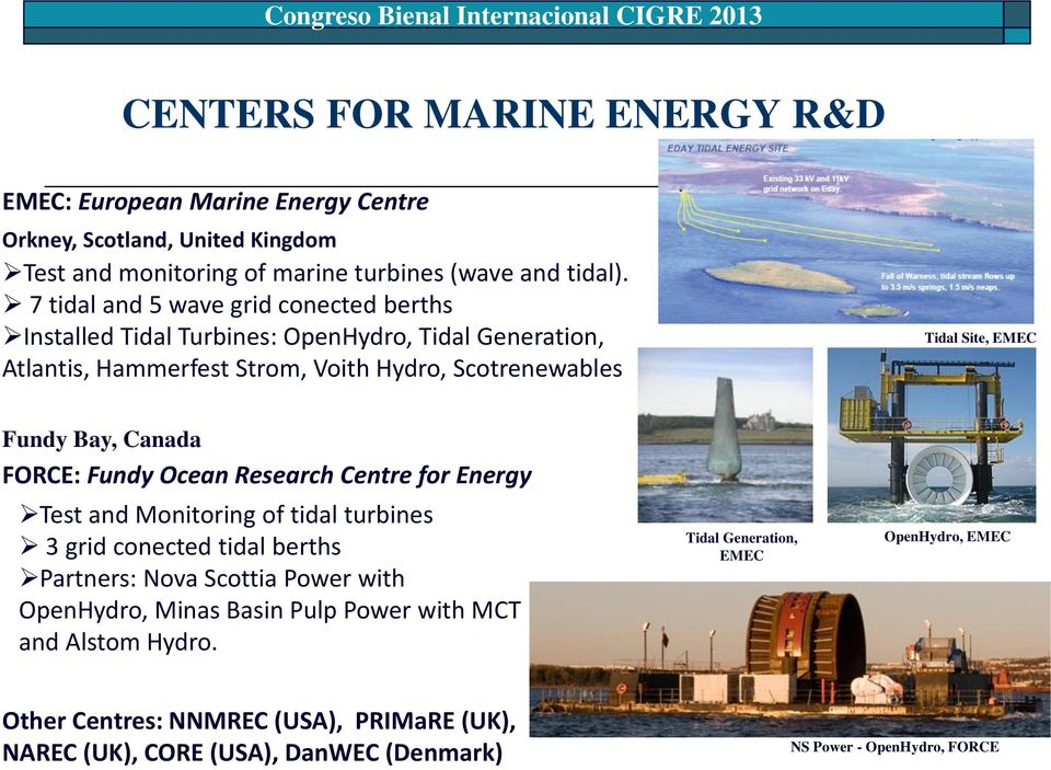 RESEARCH IN MARINE ENERGY IN CHILE Fondef Tidal Energy - PDF