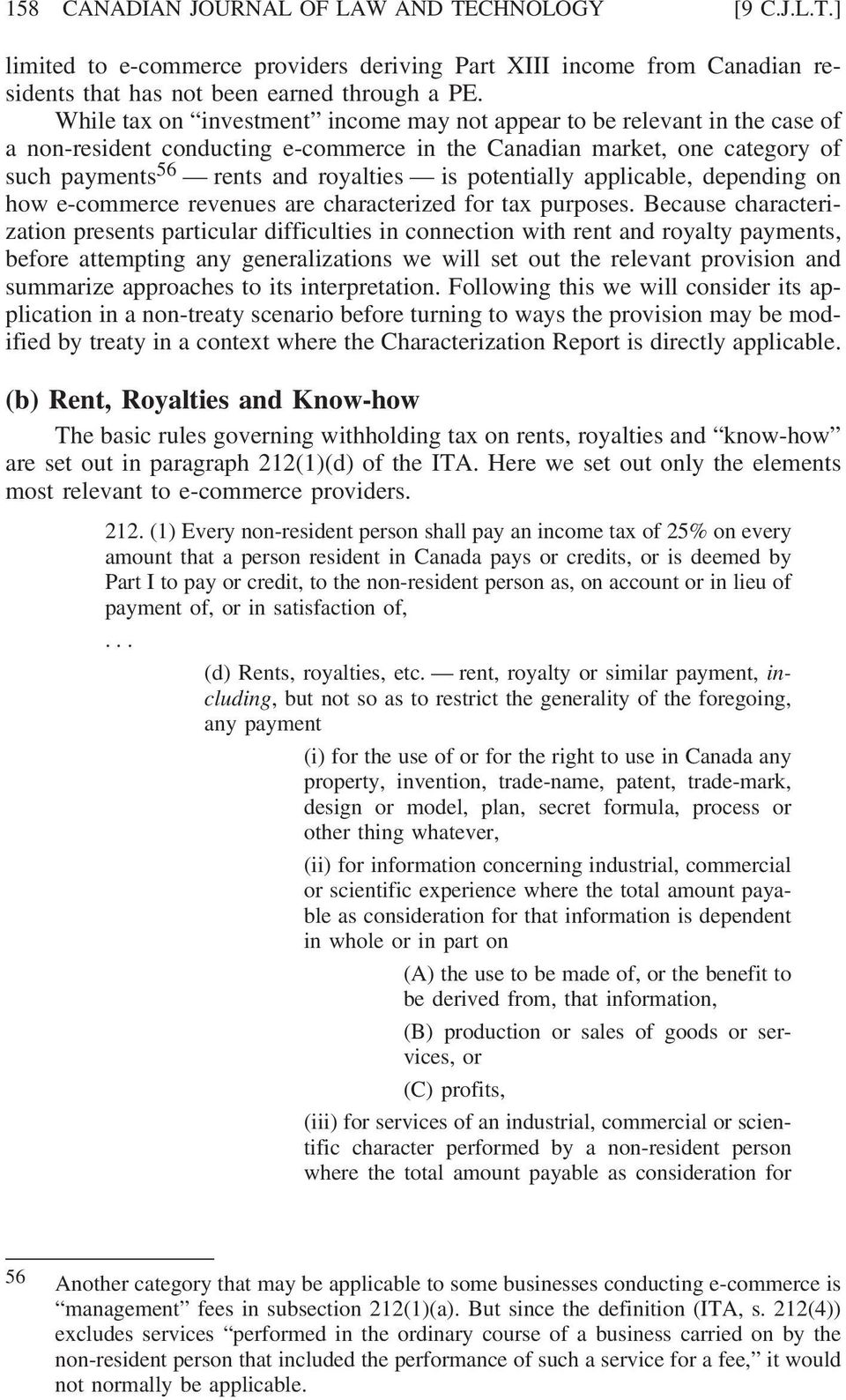 tax implications for non-residents conducting e-commerce in canada - pdf