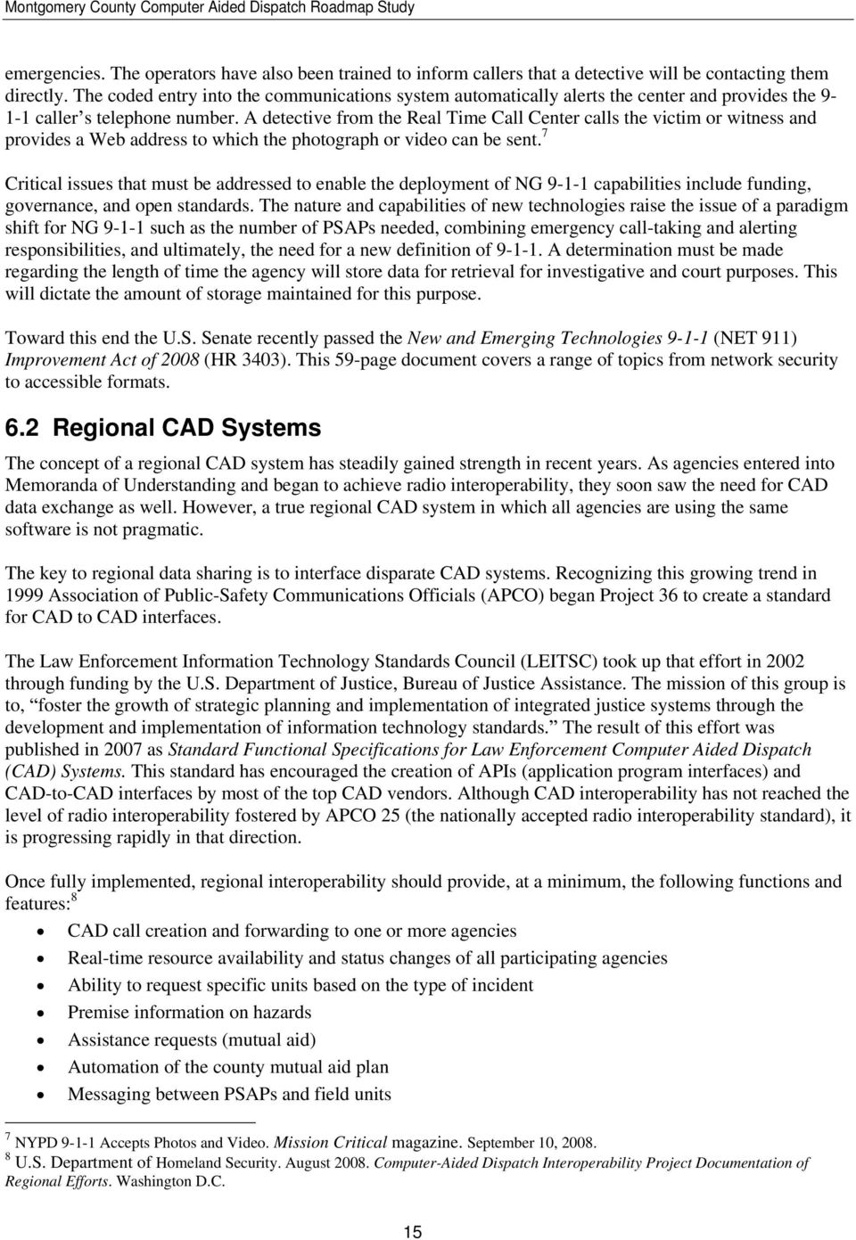 Montgomery County Computer Aided Dispatch Roadmap Study - PDF