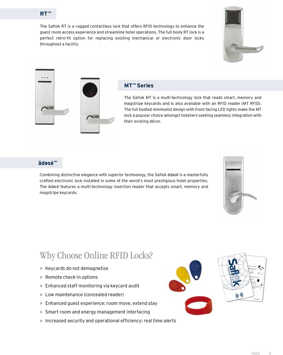Saflok mt guest room lock (certified used) electronic locksmith, inc.