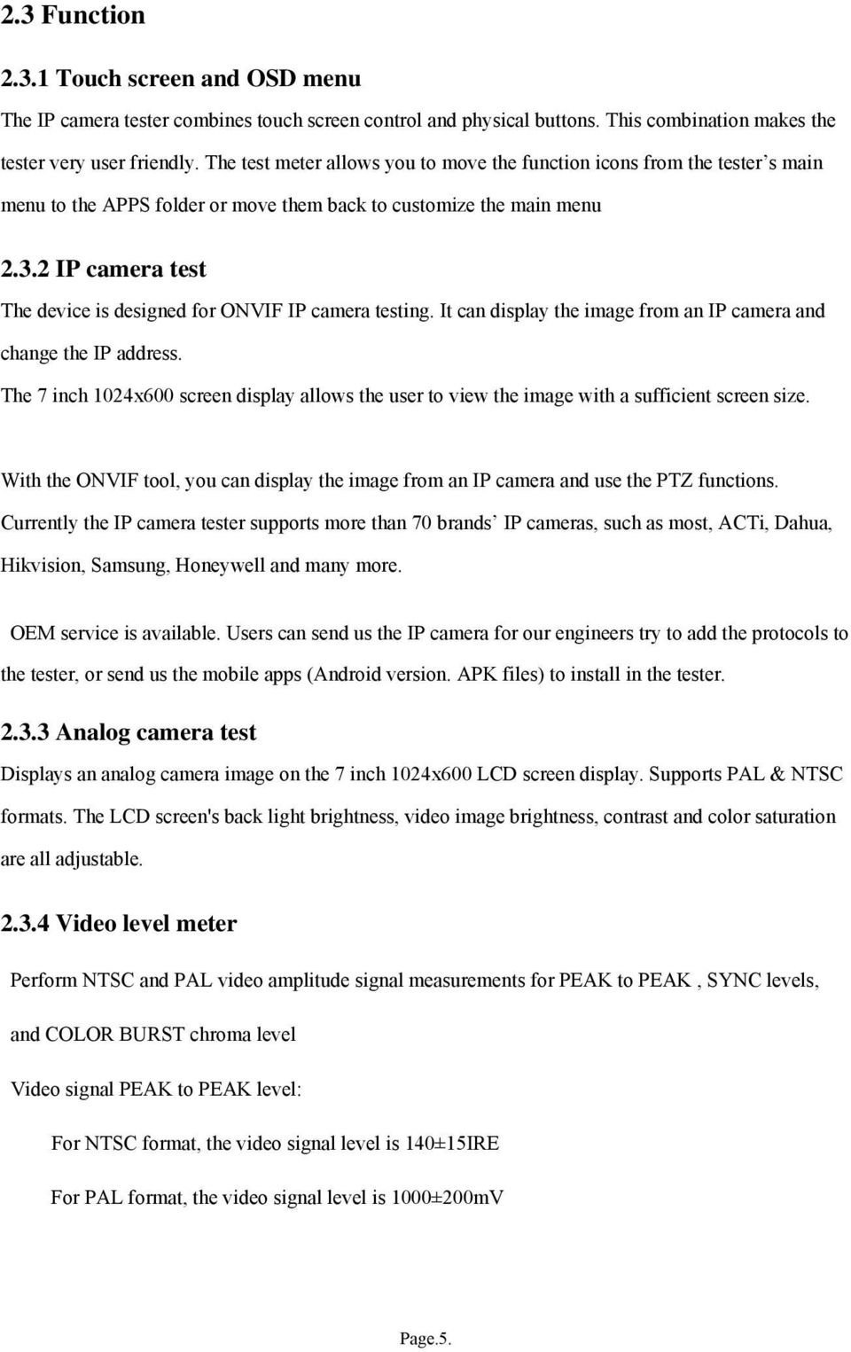 Ip Camera Tester User Manual V0100 Pdf 7 Inch 2 Test The Device Is Designed For Onvif Testing It Can