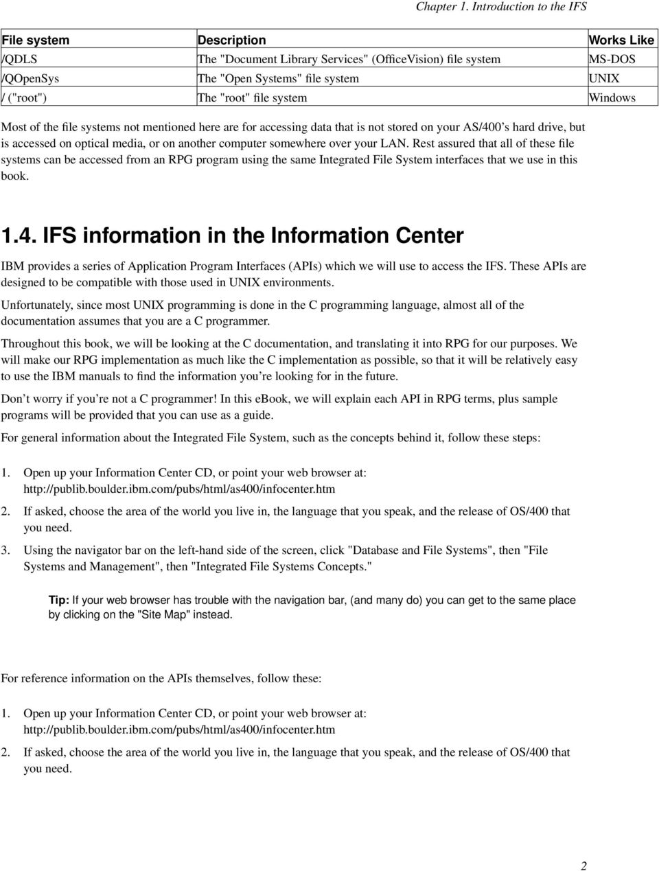 Working with the IFS in RPG IV  Scott Klement - PDF