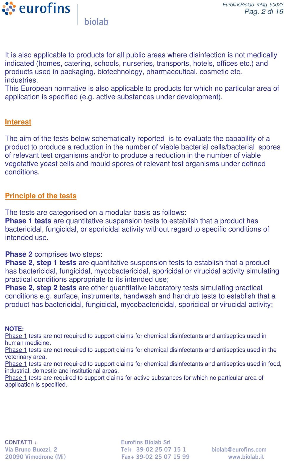 QUANTITATIVE TESTS FOR THE EVALUATION OF DISINFECTANT ACTIVITY - PDF